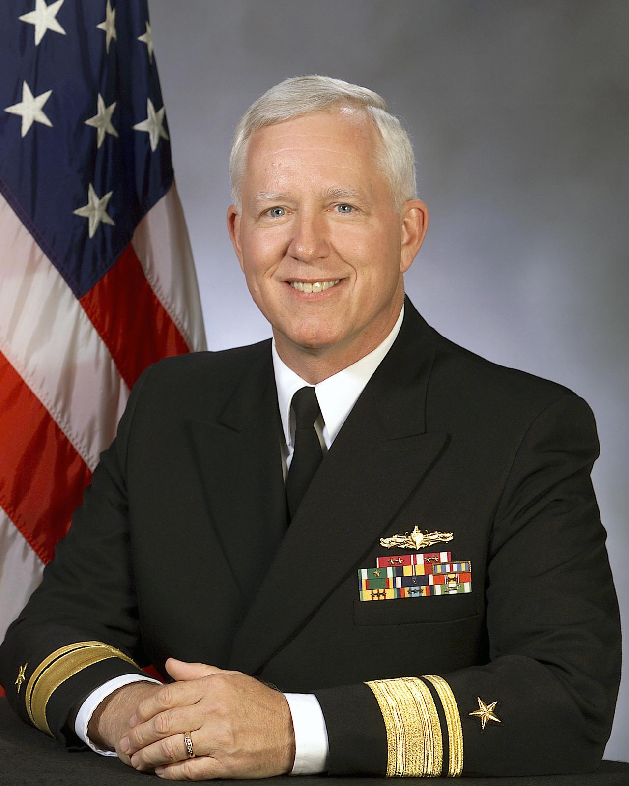 Portrait: Rear Admiral (RADM) (upper half) Michael G. Mathis, US Navy (USN) (uncovered)