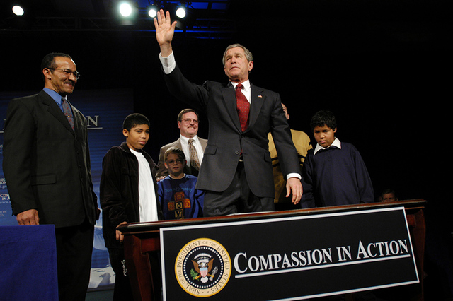 President George W. Bush Signing of Executive Order 13279, Equal Protection of the Laws for Faith-Based and Community Organizations
