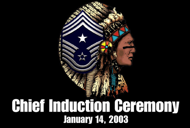The Logo for the Induction Ceremony of the Fourteen US Air Force (USAF) Command CHIEF MASTER Sergeant (CCMSGT) Inductees