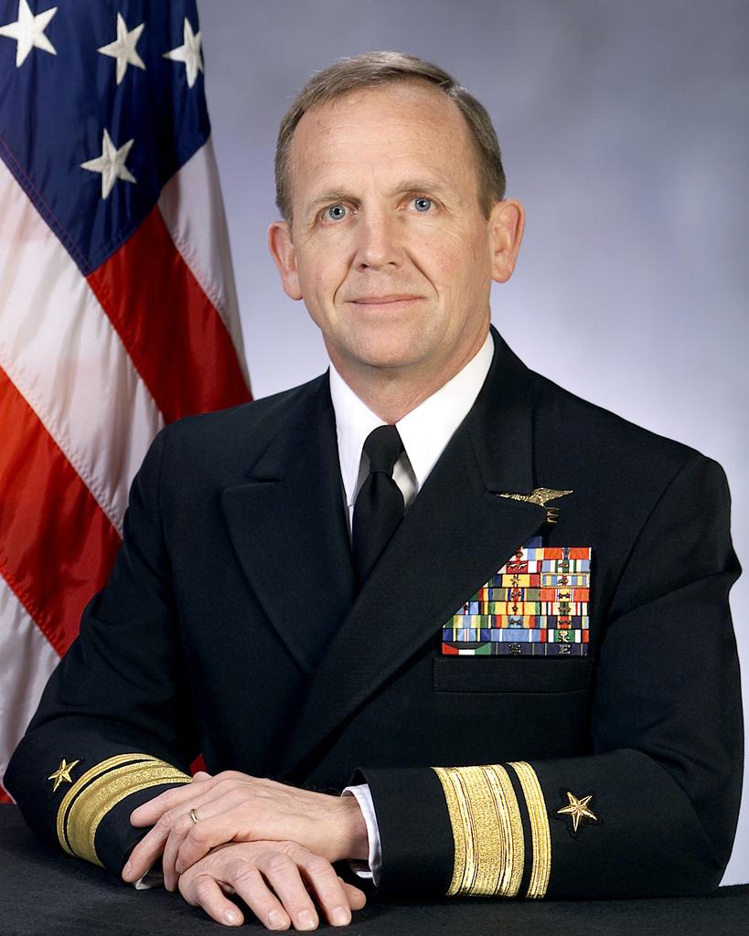 Portrait: US Navy (USN) Rear Admiral (RADM) (upper half) Eric T. Olson, (uncovered)