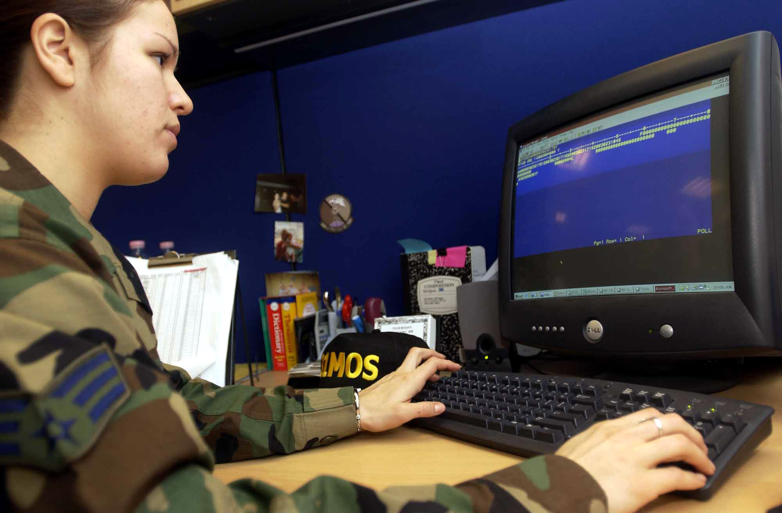 US Air Force (USAF) SENIOR AIRMAN (SRA) Kathryn Wawrzyniak, Core Automated Maintenance System (CAMS) Data Base Manager, 31st Maintenance Operations Squadron (MOS), Aviano Air Base (AB), Italy, assists CAMS users in six geographically separated units with software issues concerning the new-implemented Graphical User Interface (GUI)