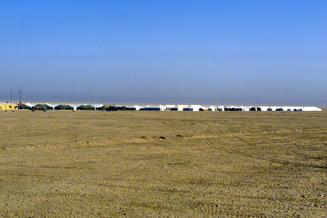 An overview of Camp Coyote, Kuwait