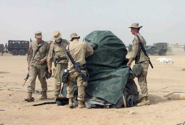 Serving as a Marine messhall, this Quonset-like Deployable
