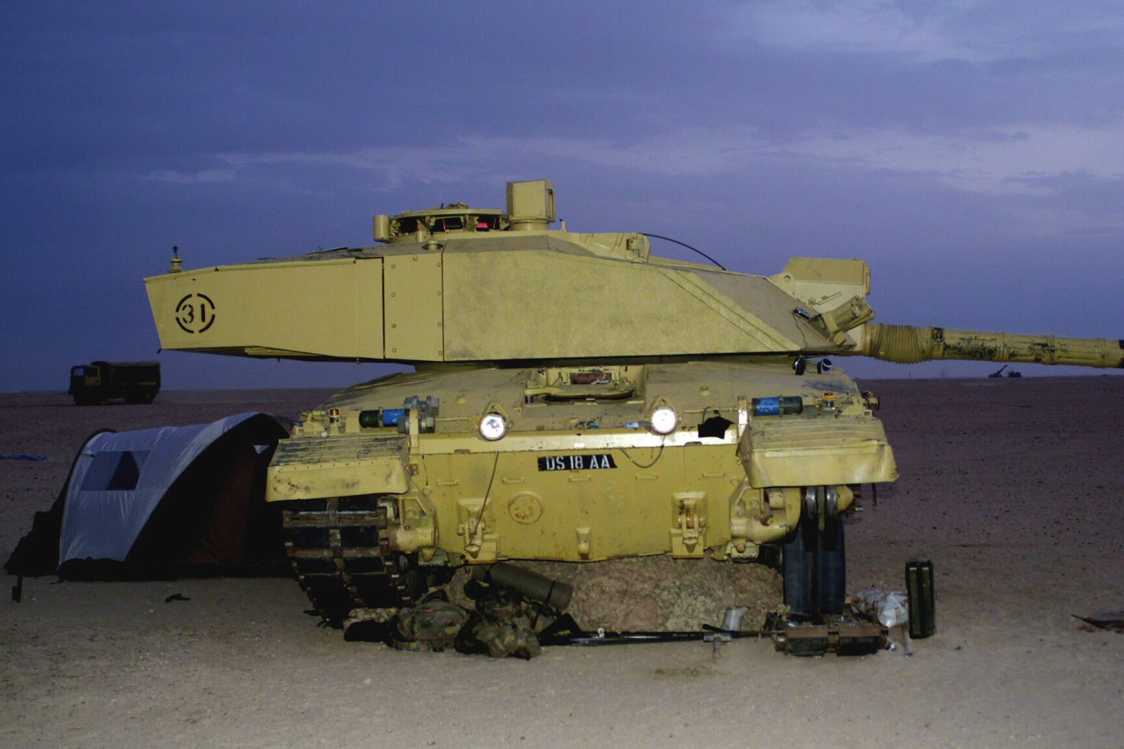 492126cacff5 A British Challenger 2 Main Battle Tank (MBT) visits Camp Coyote during  Operation ENDURING FREEDOM