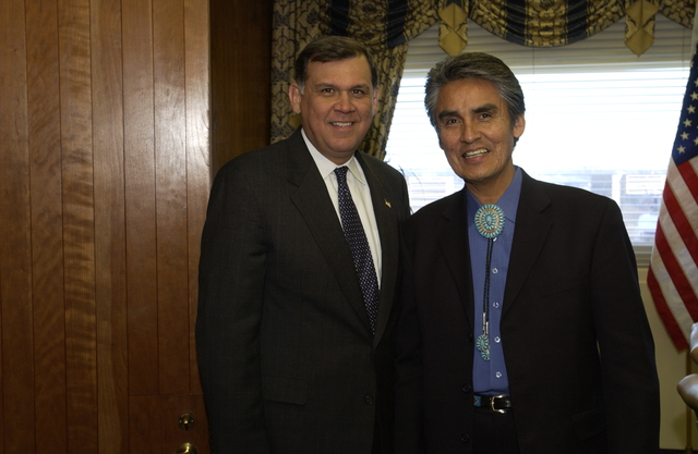 Secretary Mel Martinez with Joe Shirley