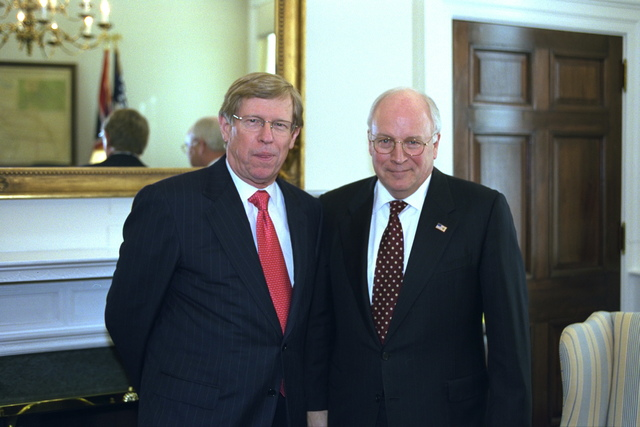 Vice President Cheney with Solicitor General of the United States Theodore B. Olson