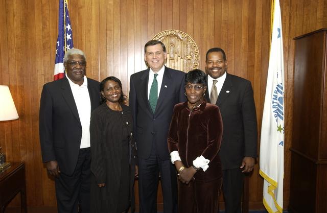 Secretary Mel Martinez with Orlando, Florida Housing Authority Delegation