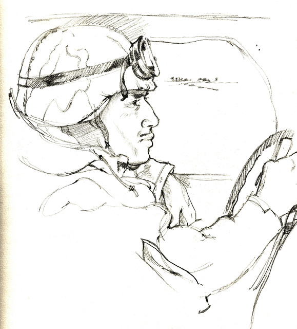 A hand-sketched graphite illustration by US Marine Corps (USMC) Sergeant (SGT) Jack M. Carrillo of USMC Corporal (CPL) Lameen C. Witter