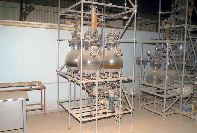 A captured suspected chemical weapons factory in Ar Rustamiyah, Iraq during Operation IRAQI FREEDOM