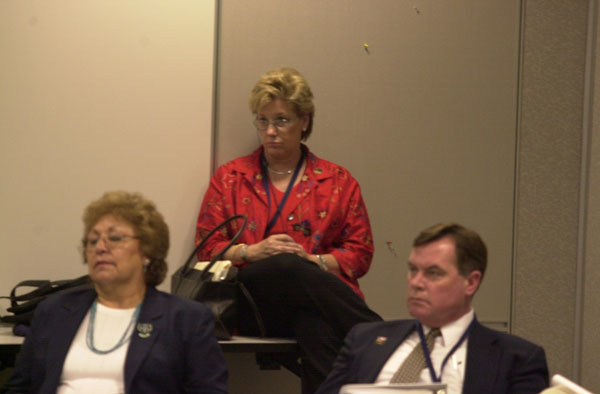 Department of Interior senior officials at retreat session at The National Conference Center in Lansdowne, Virginia