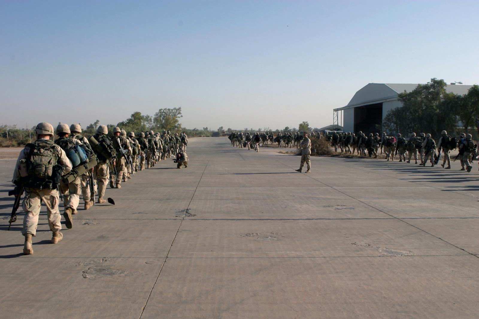 Armed Us Marine Corps Usmc Marines Assigned To Kilo Company 3rd