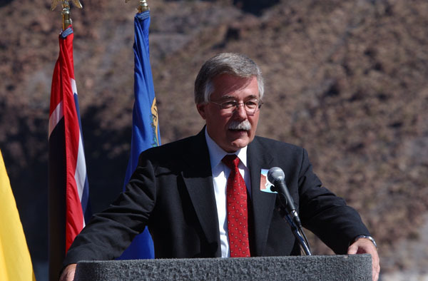 Events at Hoover Dam, Boulder City, Nevada, marking historic Colorado River Water Delivery Agreement, providing for reduction in California reliance on Colorado River water and protection of authorized shares of water for six other Colorado River Basin states
