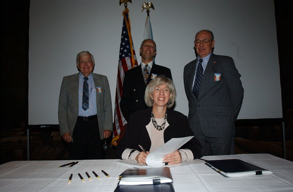 Visit of Secretary Gale Norton to Hoover Dam area, Boulder City, Nevada for activities marking historic Colorado River Water Delivery Agreement, providing for reduction in California reliance on Colorado River water and protection of authorized shares of water for six other Colorado River Basin states