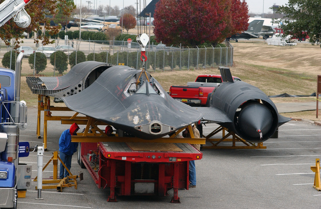 The reassembly of the US Air Force (USAF) SR-71 Blackbird, serial number 61-7967, begins in preparation for its permanent roost at the Eighth Air Force Museum, Barksdale Air Force Base (AFB), Louisiana (LA). Reassembly will take place over the next few days and a dedication ceremony will take place on December 17th to celebrate the arrival of the jet, and the 100th Anniversary of the first heavier than air controlled flight of the Wright Flyer, at Kitty Hawk, North Carolina (NC)