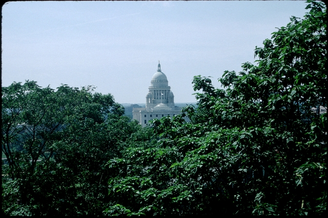 Library of Environmental Images, Office of Research and Development (ORD), September 1996 - Scenic/General - State capitol building framed by trees (RI)