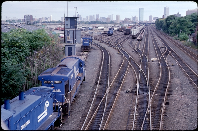 Library of Environmental Images, Office of Research and Development (ORD), September 1996 - Scenic/General - Train tracks with skyline in background (MA)