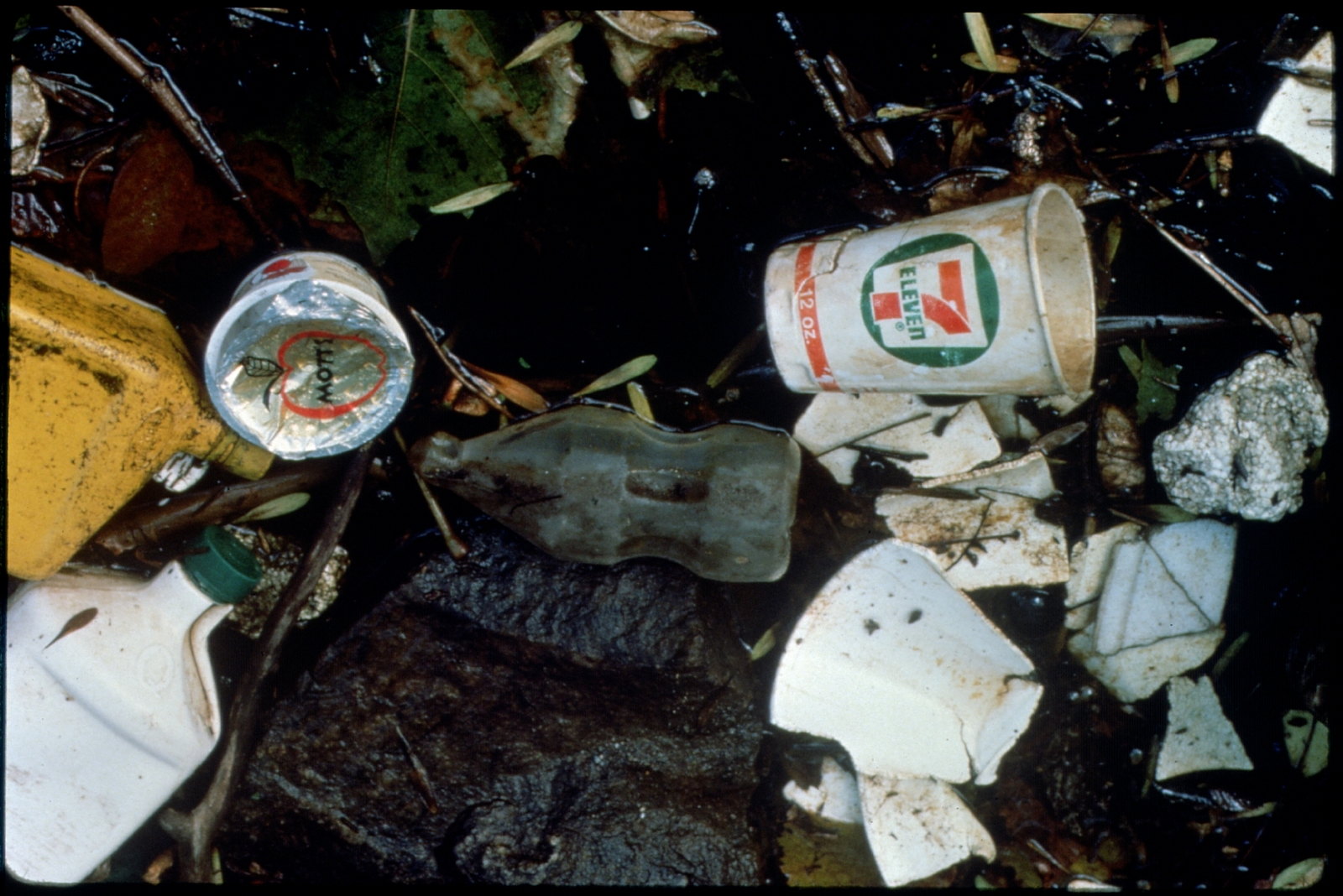 Library of Environmental Images, Office of Research and Development (ORD), September 1996 - Pollution Prevention - Oily trash and debris on ground