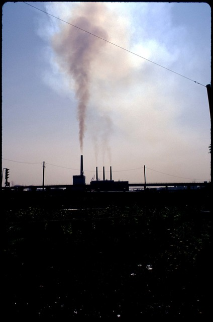 Library of Environmental Images, Office of Research and Development (ORD), September 1996 - Air - Smokestacks (Charlestown, MA)