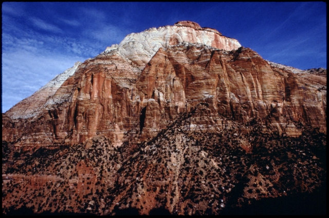 Library of Environmental Images, Office of Research and Development (ORD), September 1996 - Scenic/General - Sandstone and scrub brush (Zion National Park, UT)