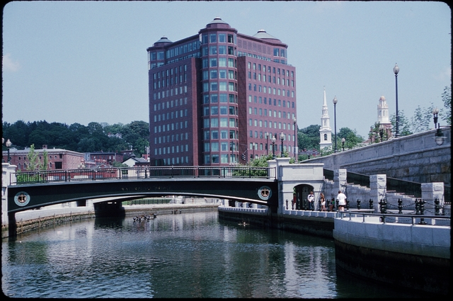 Library of Environmental Images, Office of Research and Development (ORD), September 1996 - Scenic/General - Bridge with skyscraper in background (RI)
