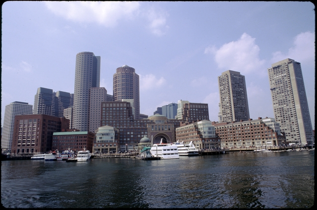 Library of Environmental Images, Office of Research and Development (ORD), September 1996 - Scenic/General - Boston skyline from harbor (MA)