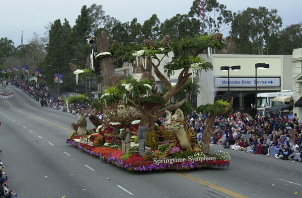 Float at the New Year's Day Tournament of Roses Parade in Pasadena, California. Secretary Gale Norton and Take Pride in America Director Martha Allbright rode horseback in the Parade to highlight the Take Pride in America-promoted volunteer commitment to cleanup of California lands devastated by 2003 forest fires
