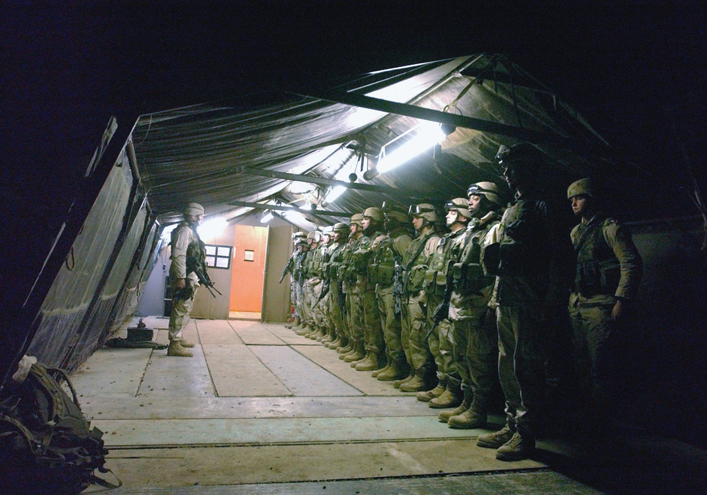 US Air Force (USAF) personnel from the 447th Expeditionary