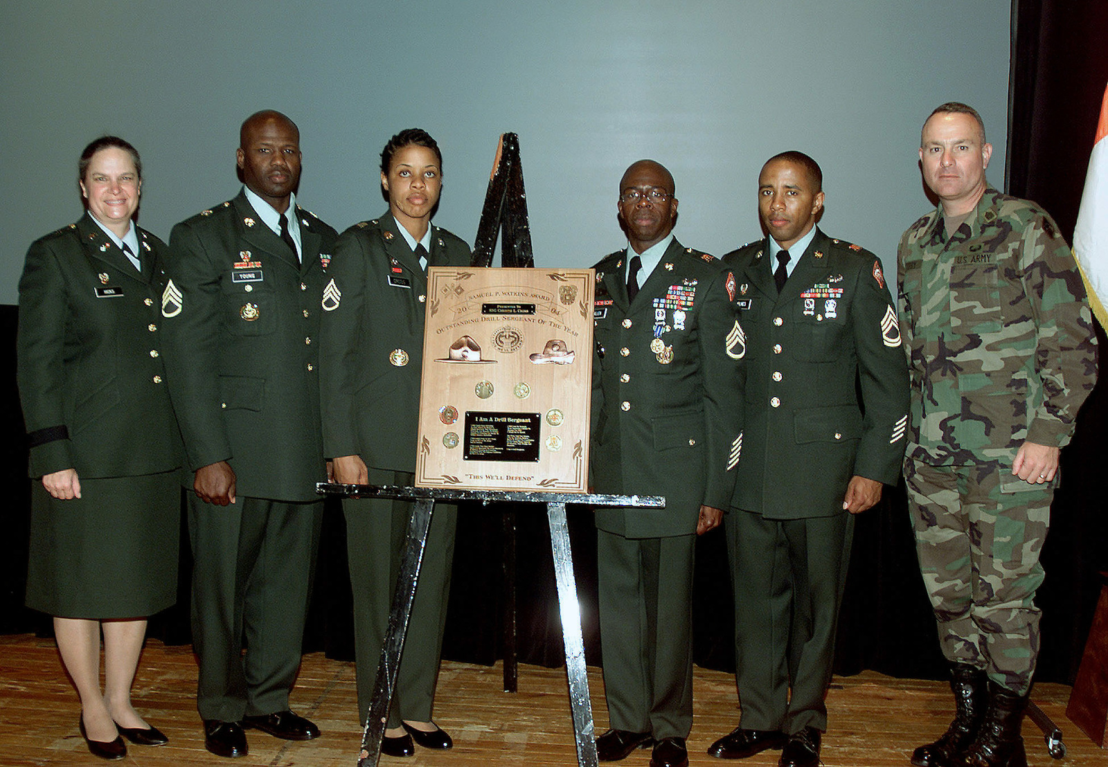 During the Drill Sergeant of the Year ceremony, the