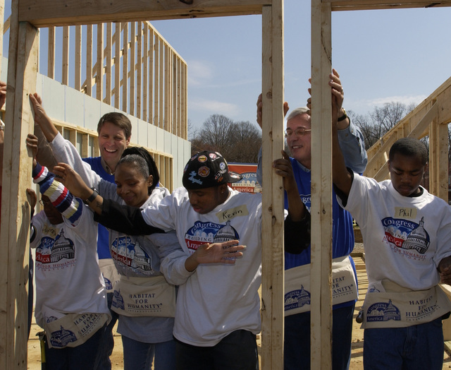 Assistant Secretary Roy Bernardi at Habitat for Humanity Event