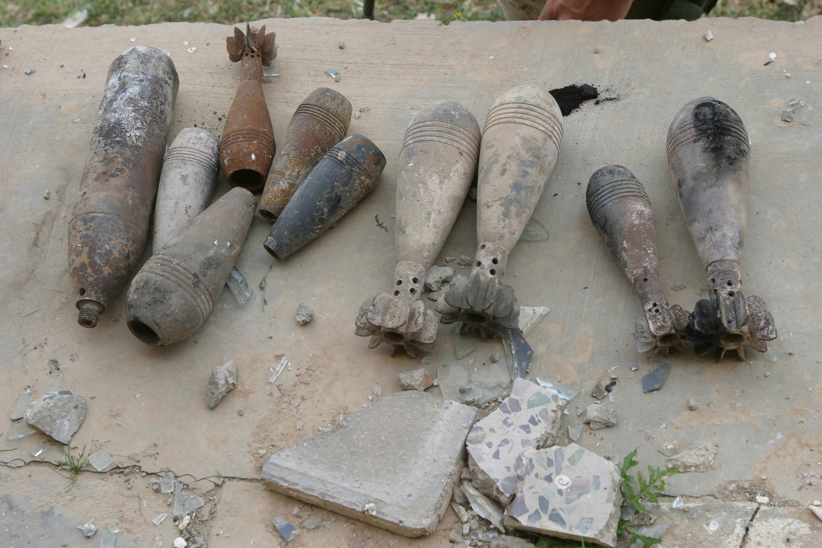 These mortar rounds were found inside a former Iraqi Army
