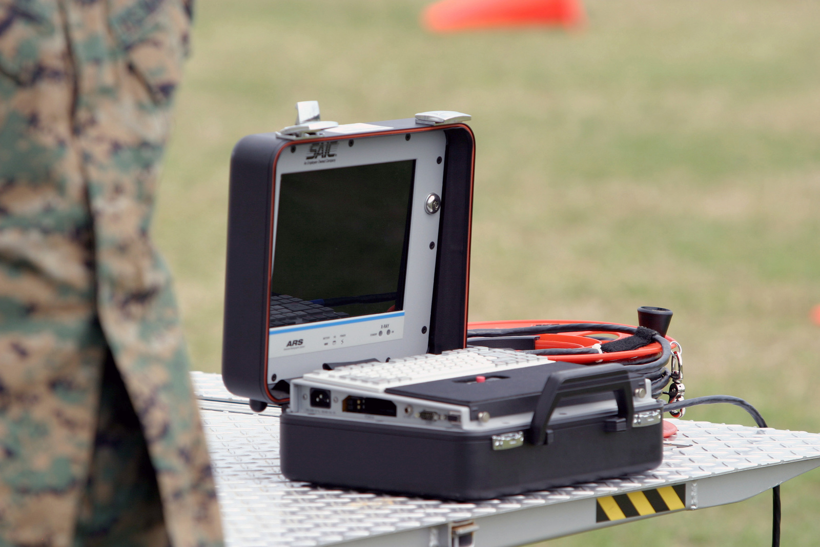 An electronic device used by US Marine Corps (USMC) Provost