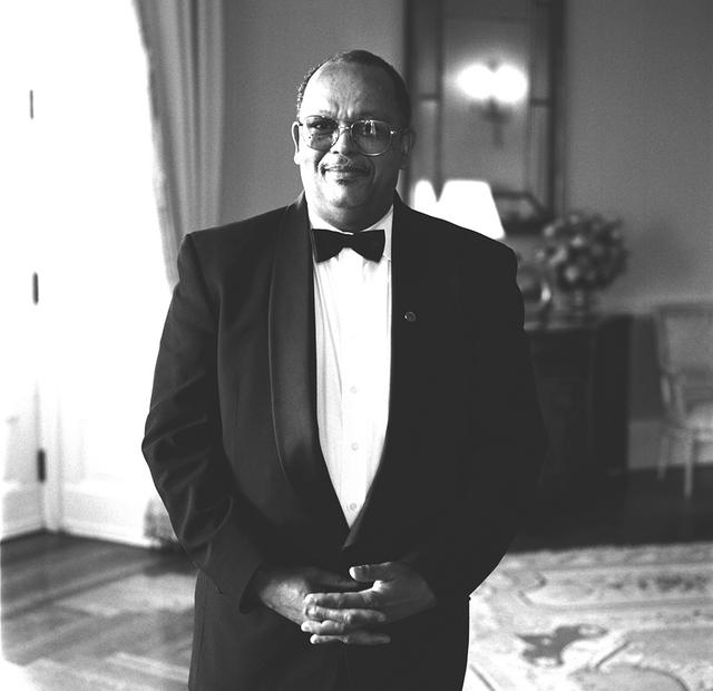 Portrait of George Hannie, White House Maitre D'