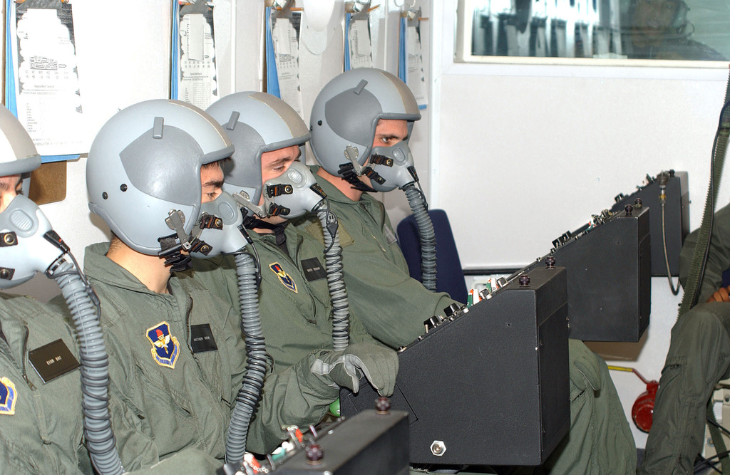 Undergraduate Student Pilots in Class of 05-09 train in a US Air Force (USAF) decompression chamber at Laughlin Air Force Base (AFB), Texas (TX)