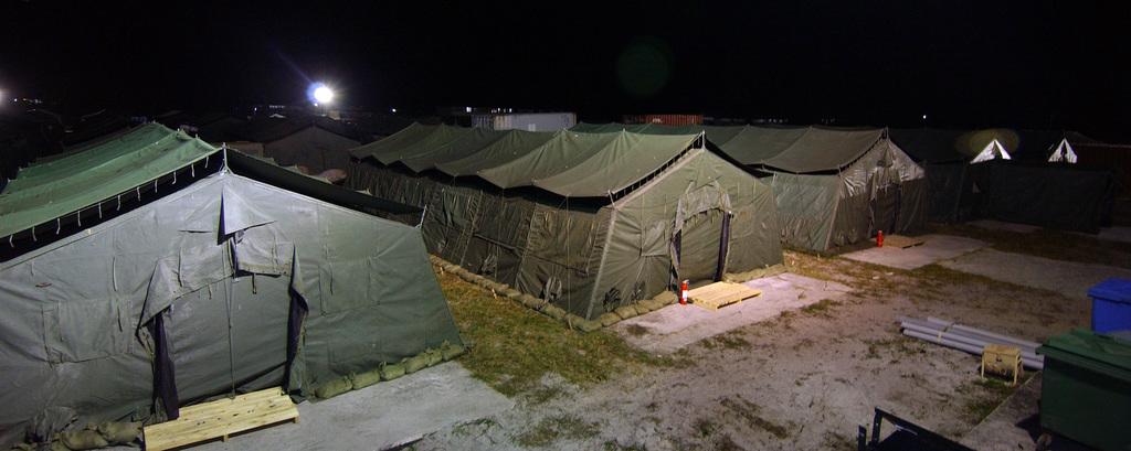 Download file_download & Tent city on Camp Stephenson Timehri Guyana (GUY) at night ...