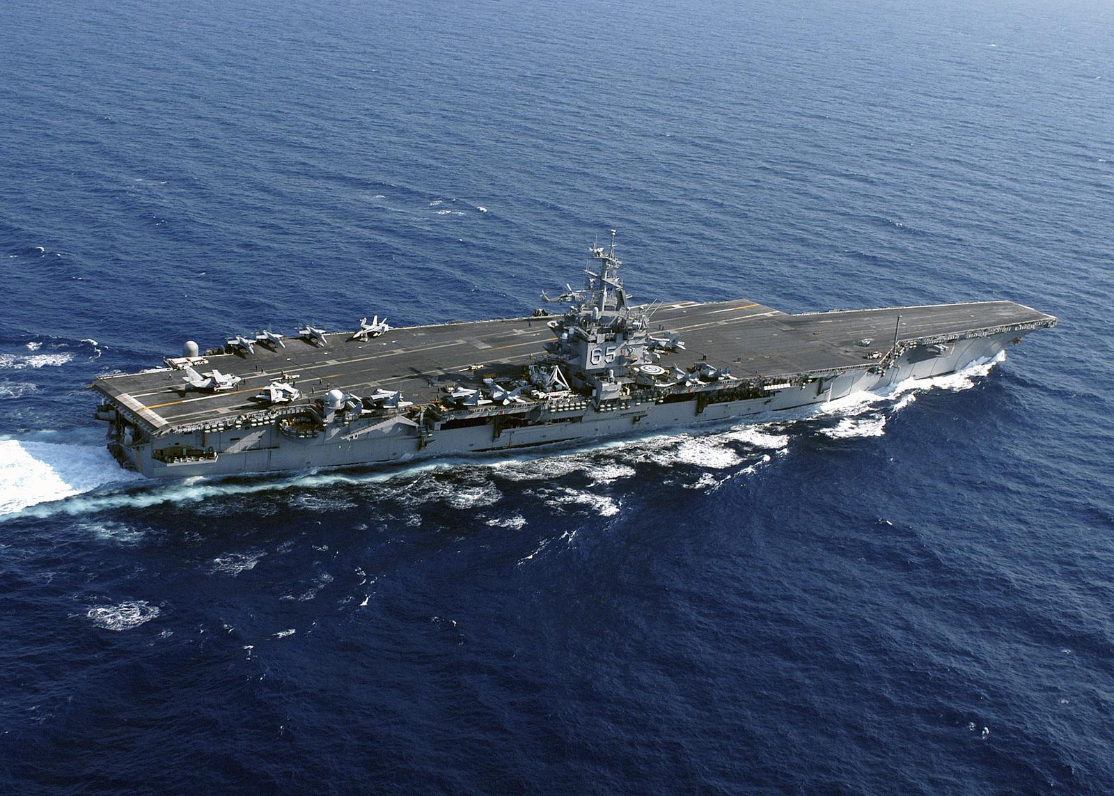 The US Navy (USN) Aircraft Carrier USS ENTERPRISE (CVN 65 ...