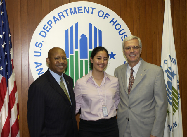 Andrew Card Visits HUD