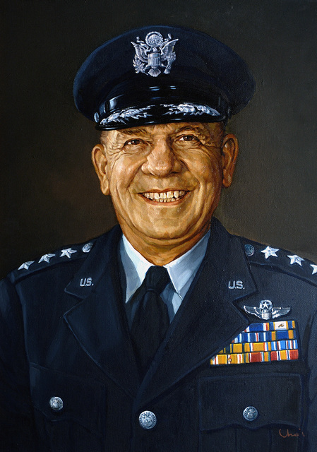 Artwork portrait of US Air Force (USAF) General (GEN) Otto P