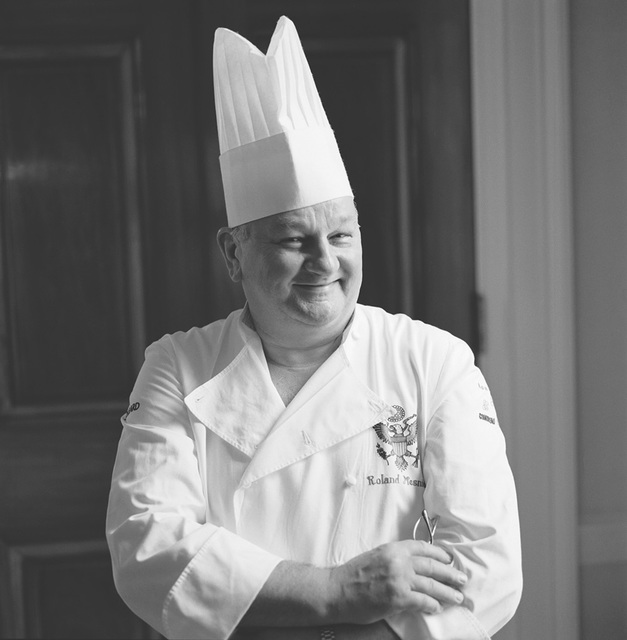 Portrait of Roland Meisner, White House Chief Pastry Chef