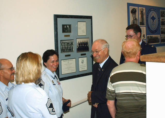 The Kirtland Air Force Base (AFB) Non-Commissioned Officer (NCO) Academy names its auditorium for retired US Air Force (USAF) CHIEF MASTER Sergeant of the Air Force (CMSAF) Sam Parish. USAF CHIEF MASTER Sergeants (CMSGT) Allan Ludi (left), Rita Kinler, and Sheila Gurule (right) talk with retired CMSAF Sam Parish. CMSAF Parish, the eighth CMSAF (1983-1986) was at Kirtland AFB, New Mexico (NM) for a ceremony at the Kirtland NCO Academy, to name the school's auditorium in his honor. CMSAF Parish is the only former CMSAF to graduate from the Kirtland NCO Academy and he is the Honor Graduate of Class 64-D. The academy is the oldest continuous operation enlisted professional military...