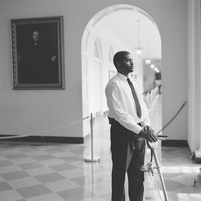 Portrait of Edward Bland, White House Houseman