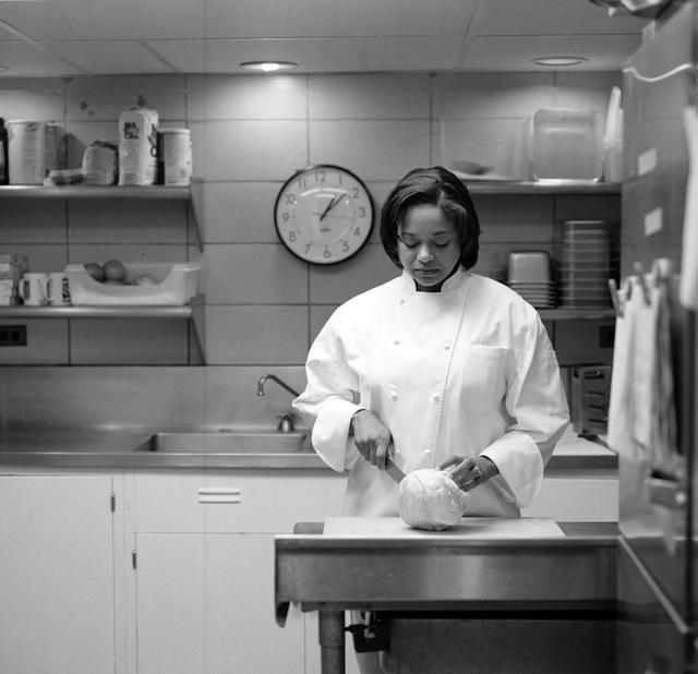 Portrait of Paula Patton-Moutsos, White House Staff Chef