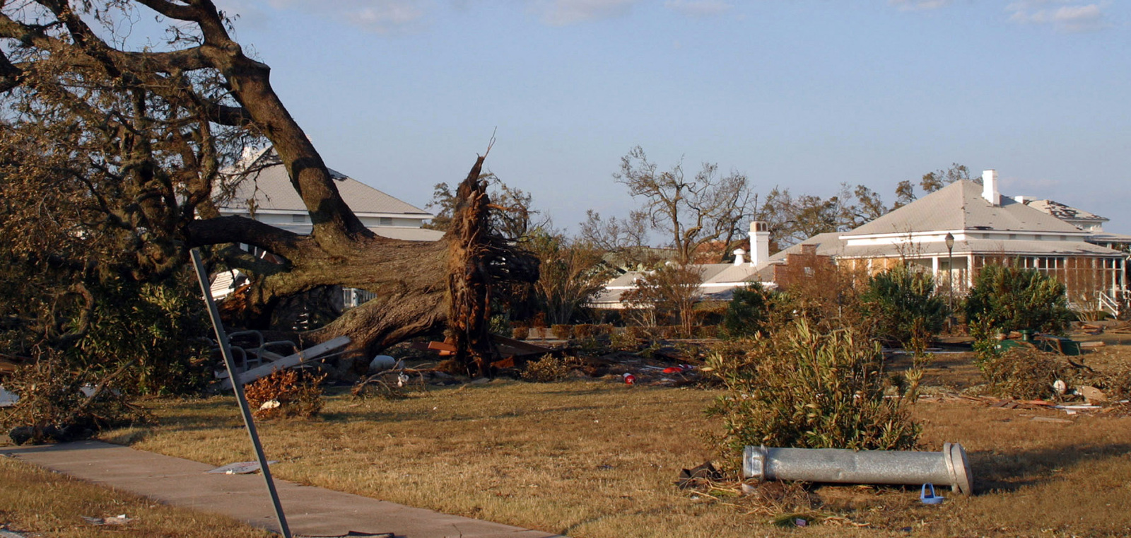 Hurricane Ivan inflicted severe damage to US Navy (USN) facilities on Naval Air Station (NAS) Pensacola, Florida
