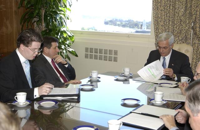 Deputy Secretary Roy Bernardi with Ivan Meterov