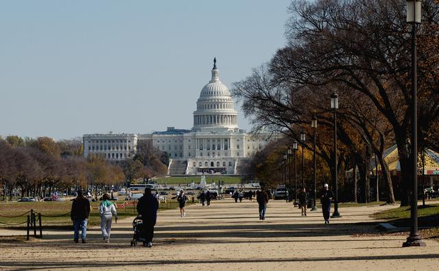 Washington, DC, November 11, 2004 -- The Capitol Building on a crisp fall day from the National Mall.  Bill Koplitz/FEMA