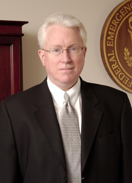 Washington, DC, December 3, 2004 -- David Garratt, FEMA's Acting Director of Recovery, in his office.  Bill Koplitz/FEMA