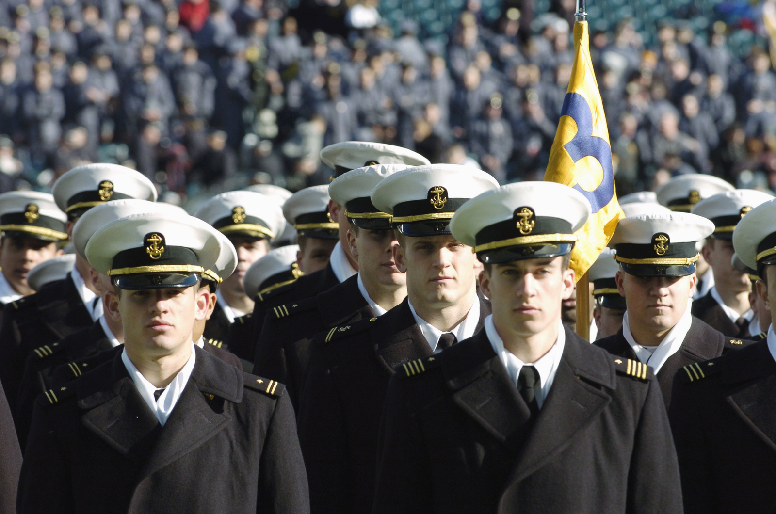 sneakers for cheap a19b9 b7475 US Naval Academy (USNA) Midshipmen (MIDN) march onto the ...