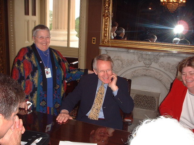 Commissioner Gould and Senator Harry Reid at American Library Association Legislative Day