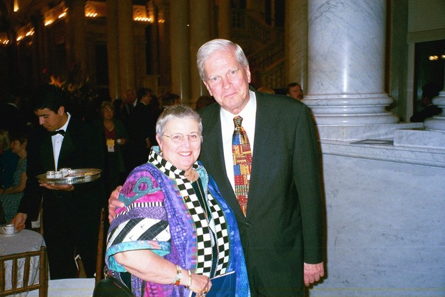 Commissioner Martha Gould and James Billington at the Library of Congress