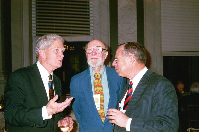 Dr. James Billington and Two Unidentified Individuals at the 200th Birthday Celebration of the Library of Congress