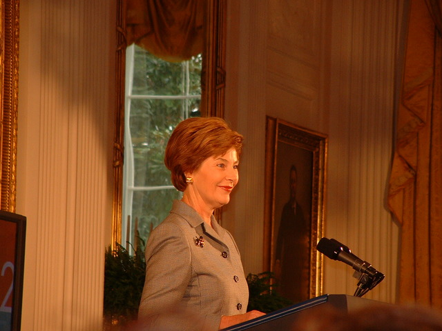 First Lady Laura Bush at National Awards for Museum and Library Service